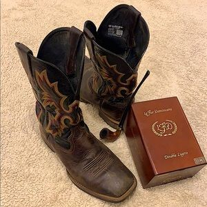 Gorgeous re-soled Ariat boots